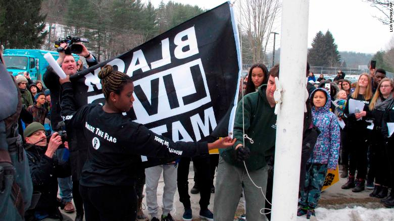 Why a high school that's just 5% black is raising the Black Lives Matter flag