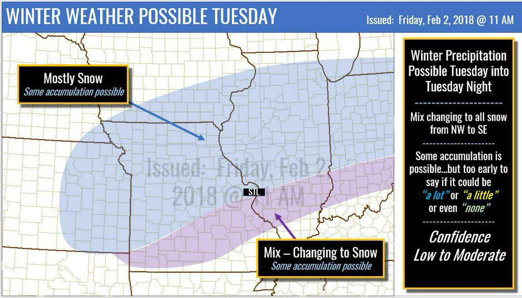 Chilly weekend ahead – Winter weather possible Tuesday