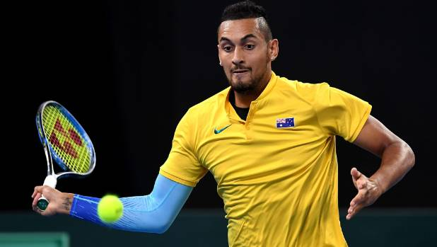 Nick Kyrgios wins to bring Australia level in Davis Cup tie with Germany