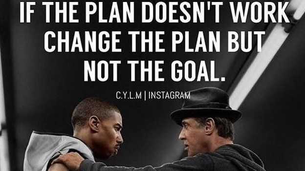 "Never quit your GOAL. You can change the ""HOW"" you are going to get there but don't downgrade your goal! https://t.co/hL7hKbSH0B"