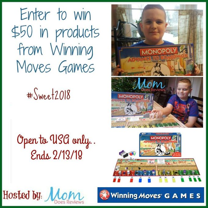 $50 in Products from Winning Moves Games-1-US-Ends 2/13