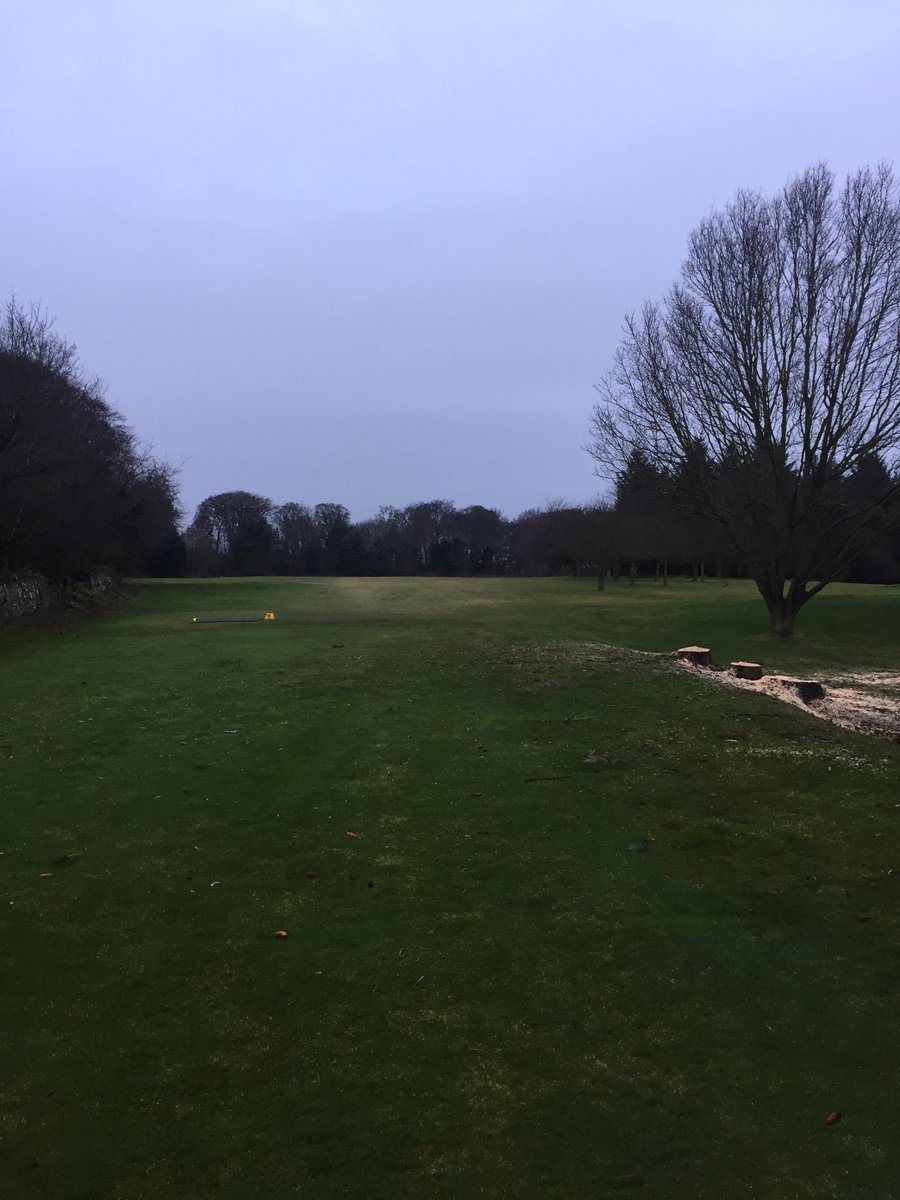 test Twitter Media - Big difference with trees gone at 5 th tee . doesn't mean you can go for the green Greg . https://t.co/0yMLbEa2BP