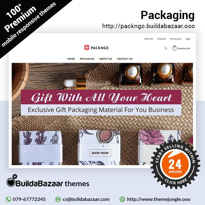 test Twitter Media - Bring your packaging store online in just 24 hours and increase your customer base with the help of BuildaBazaar.  #infibeam  #themejungle #buildabazaarthemes  #ecomercethemes #websitethemes https://t.co/Lwt5xj2xib https://t.co/a6NORVMHMh