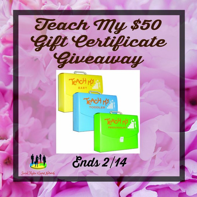 Teach My $50 Gift Certificate Giveaway