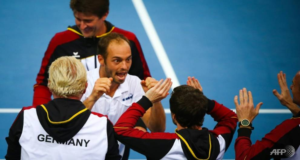 Germans win thrilling Davis Cup doubles clash to lead tie