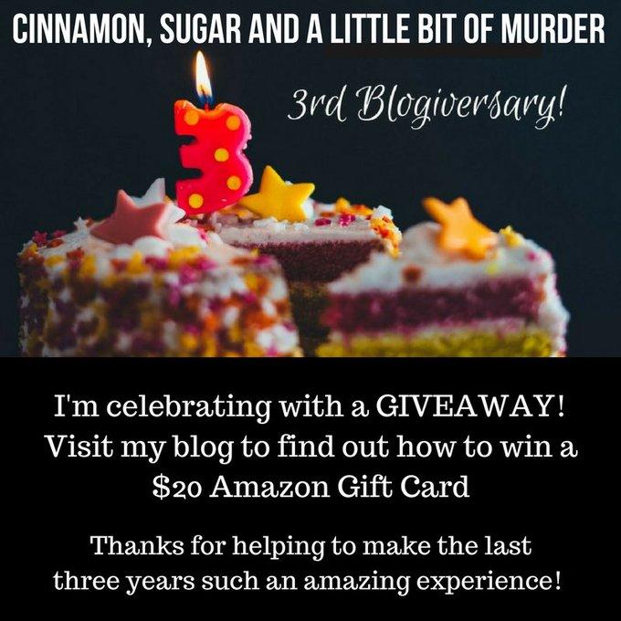 #giveaway Celebrating Cinnamon & Sugar's 3rd Year Blogiversary