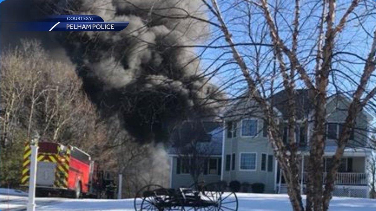 Fire in Pelham destroys shed