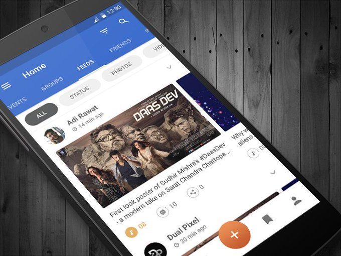 Social News Feed App by IDualPixel freebie