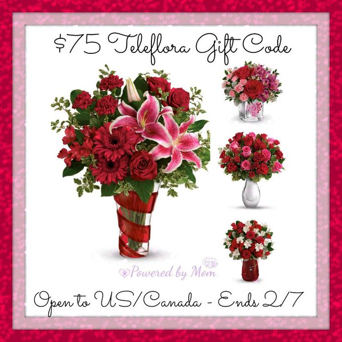WIN $75 Teleflora Gift Code (With Free Delivery) Ends 2/7