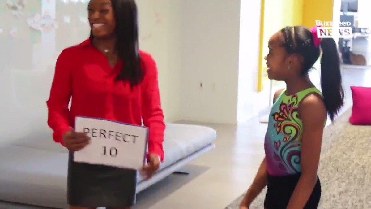 RT @AM2DM: Watch this 11-year-old gymnast meet her hero @Simone_Biles 😭 💕 https://t.co/iejwAfgKdB