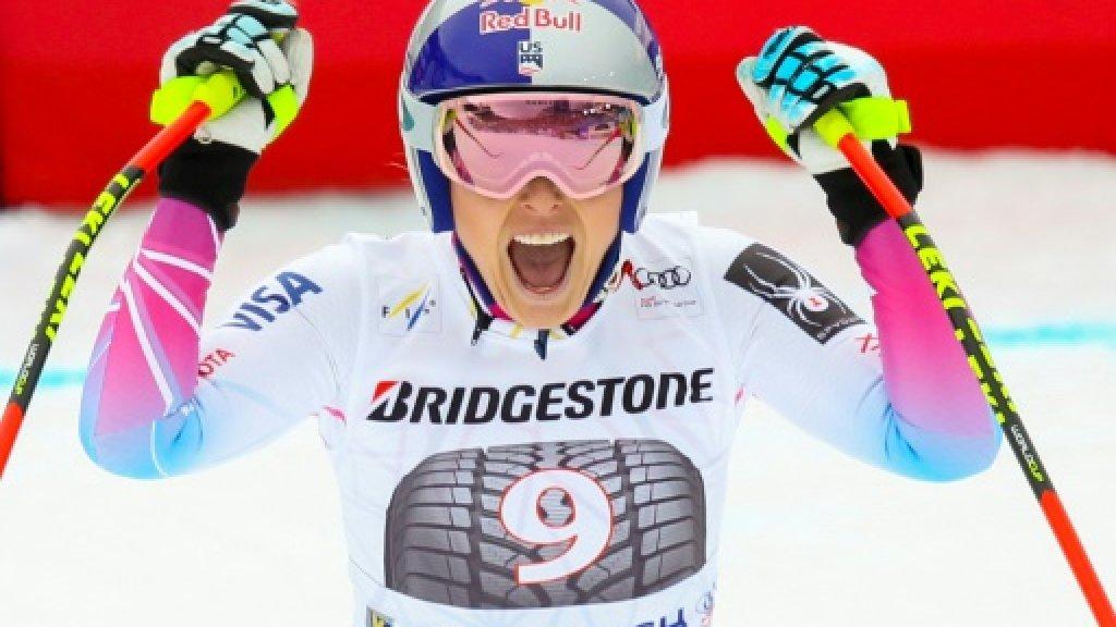 Lindsey Vonn claims 80th World Cup win, Garmisch hat-trick