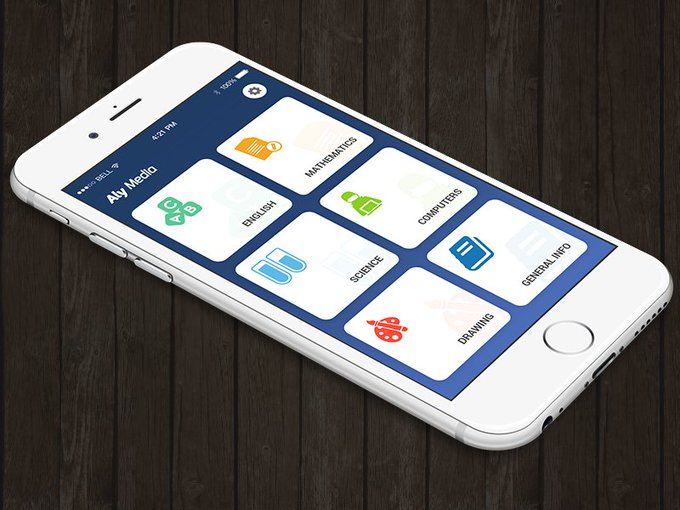 Student App Home Screen Concept by Neha Manchanda freebie