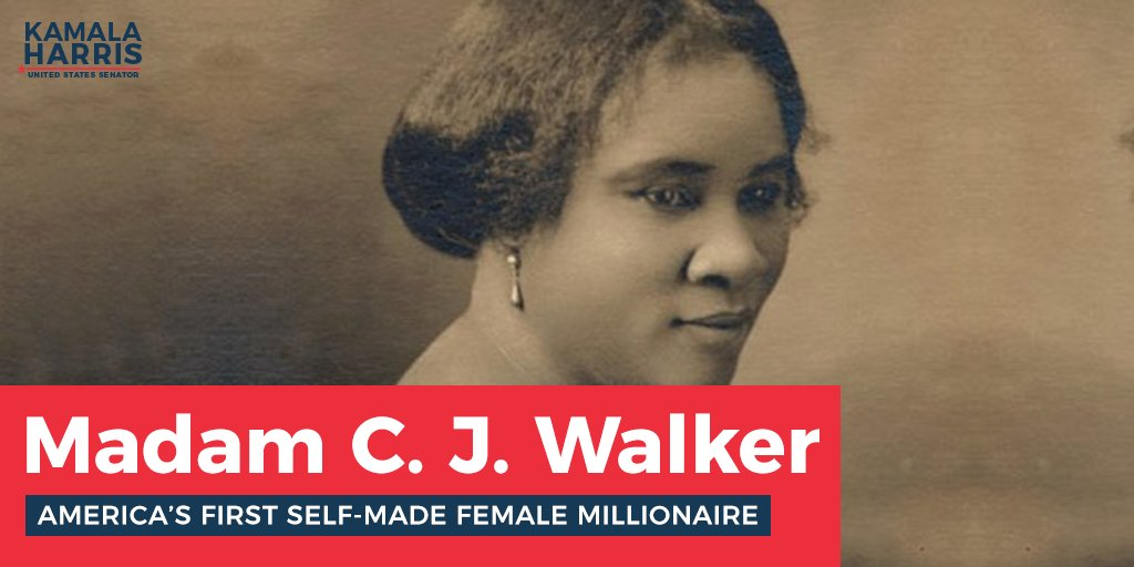 a biology of madam cj walker the first female self made millionaire in america Sarah breedlove (december 23, 1867 – may 25, 1919), known as madam c j walker, was an african american entrepreneur, philanthropist, and a political and so.