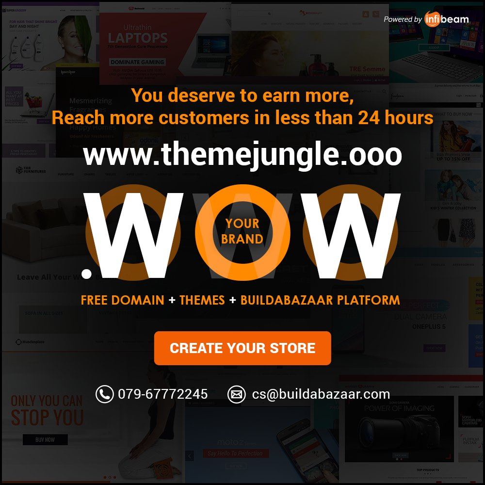 test Twitter Media - Planning to create a sophisticated online store? This is your chance to build your online store with #BuildaBazaar in just 24 hours. Choose from 100+ premium and free themes and start selling onlinetoday #themejungle #infibeam #ecommercetheme #websitetheme https://t.co/vEaoOuLwcF https://t.co/tSmsoKMkMS