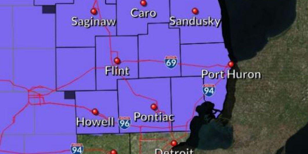 Winter weather advisory for Metro Detroit