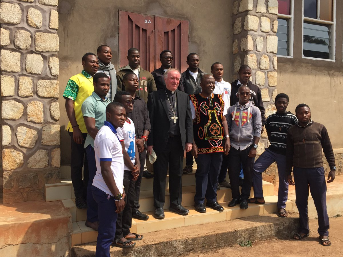 test Twitter Media - Sadly we're leaving Africa today -  here's a picture of me with some of the Bamenda seminarians! Archbishop Cornelius has promised us another two badly needed priests. But let's pray that, though obstructive to date, our UK Immigration service will this time allow them through. https://t.co/8spDm4MXaE