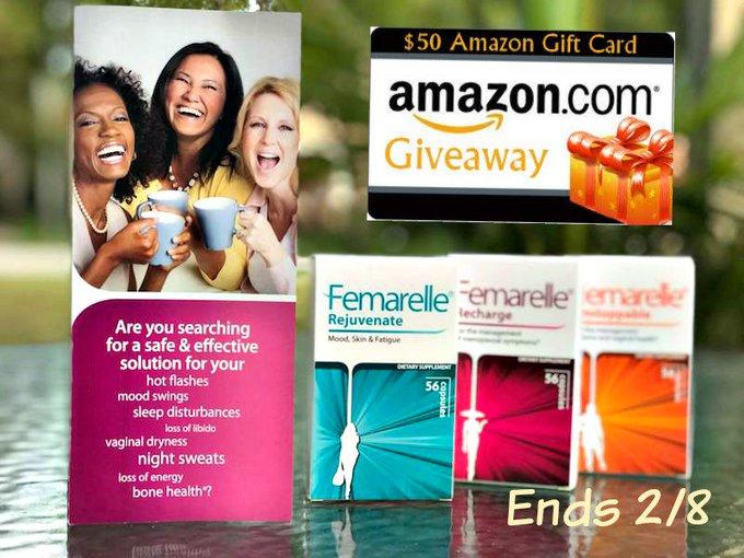 $50 Amazon GC-1-WW-FEMARELLE-Ends 2/8