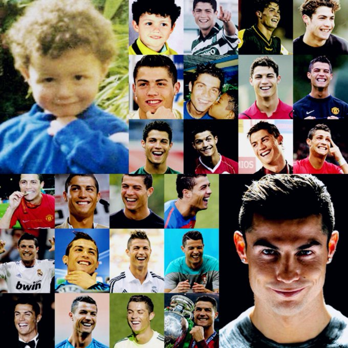 32 years gone past but that cheeky smile stays the same. Happy Birthday Cristiano Ronaldo