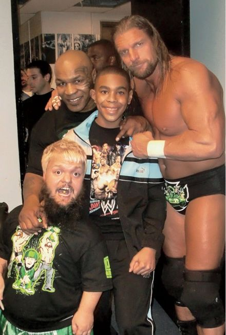 WrestleMania crew in 2010 with my son Amir. @TripleH and @wwehornswoggle  https://t.co/eNe0bfxXib https://t.co/QHSBvYCmkV