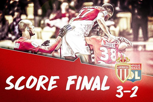 Monaco come back from 0-2 down to win 3-2 even with a man down! WOW what a match #ASMOL 📷: @asmonaco https://t.co/DxK9jrmDLc
