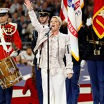 What flu? Pink shines with Super Bowl National Anthem