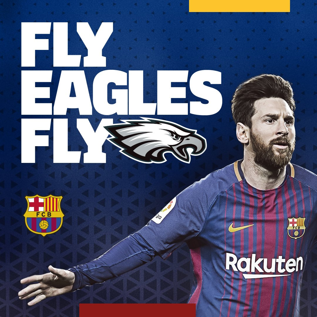 RT @FCBarcelona: ???? Congratulations, Philadelphia @eagles on your first #SuperBowl championship! #FlyEaglesFly #SBLII https://t.co/xtnAVkF7qJ