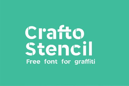 Crafto Stencil Free Typeface Display freebies design MarameStudio