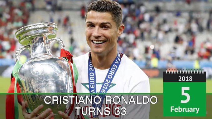 Happy 33rd Birthday to Ronaldo!  A truly special player.