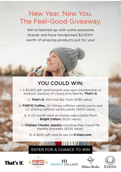 New Year, New You. The Feel-Good Giveaway.