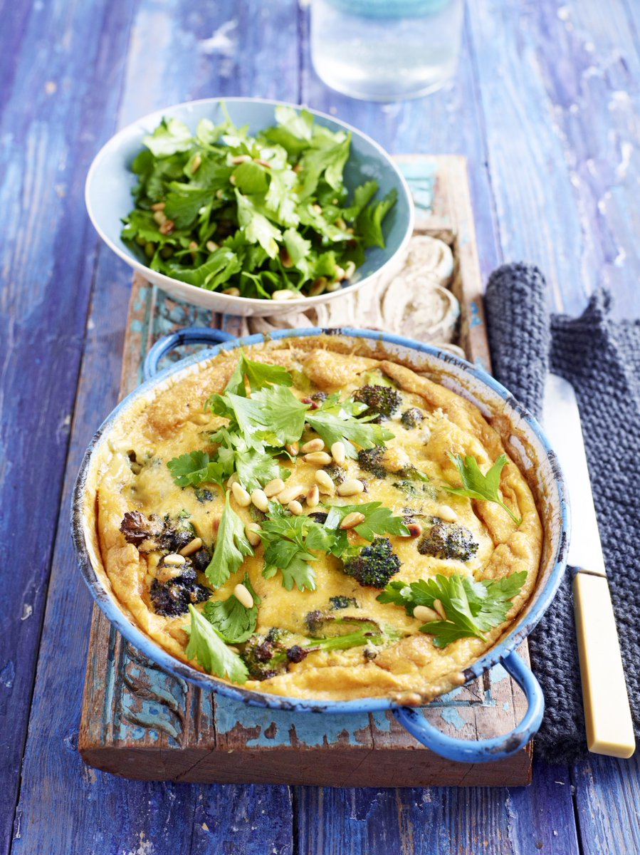 Stilton and sprouting broccoli frittata with a zesty parsley salad. https://t.co/epHXuTvhkA https://t.co/I6ZJIkqoH7