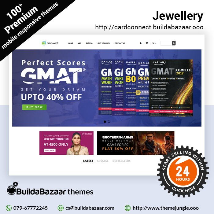 test Twitter Media - Get the best of the eCommerce experience now. #ThemeJungle gives you a reason to create an #onlinejewellerystore. You can browse through a hundred plus responsive and ready to be used #websitethemes and start selling within 24 hours. #infibeam https://t.co/xJ9yo3jBO1 https://t.co/K96L0GahEQ