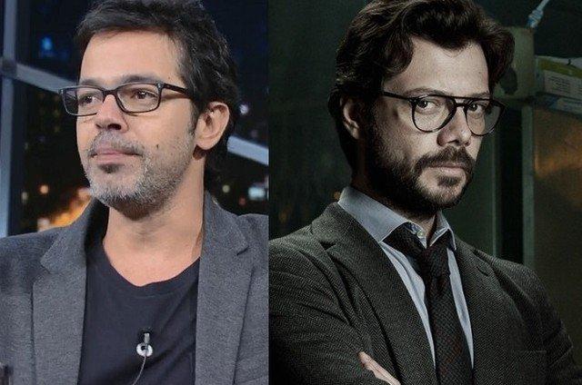 Bruno Mazzeo. Foto do site da Patrícia Kogut que mostra Internautas comparam Bruno Mazzeo com ator de 'La Casa de Papel'