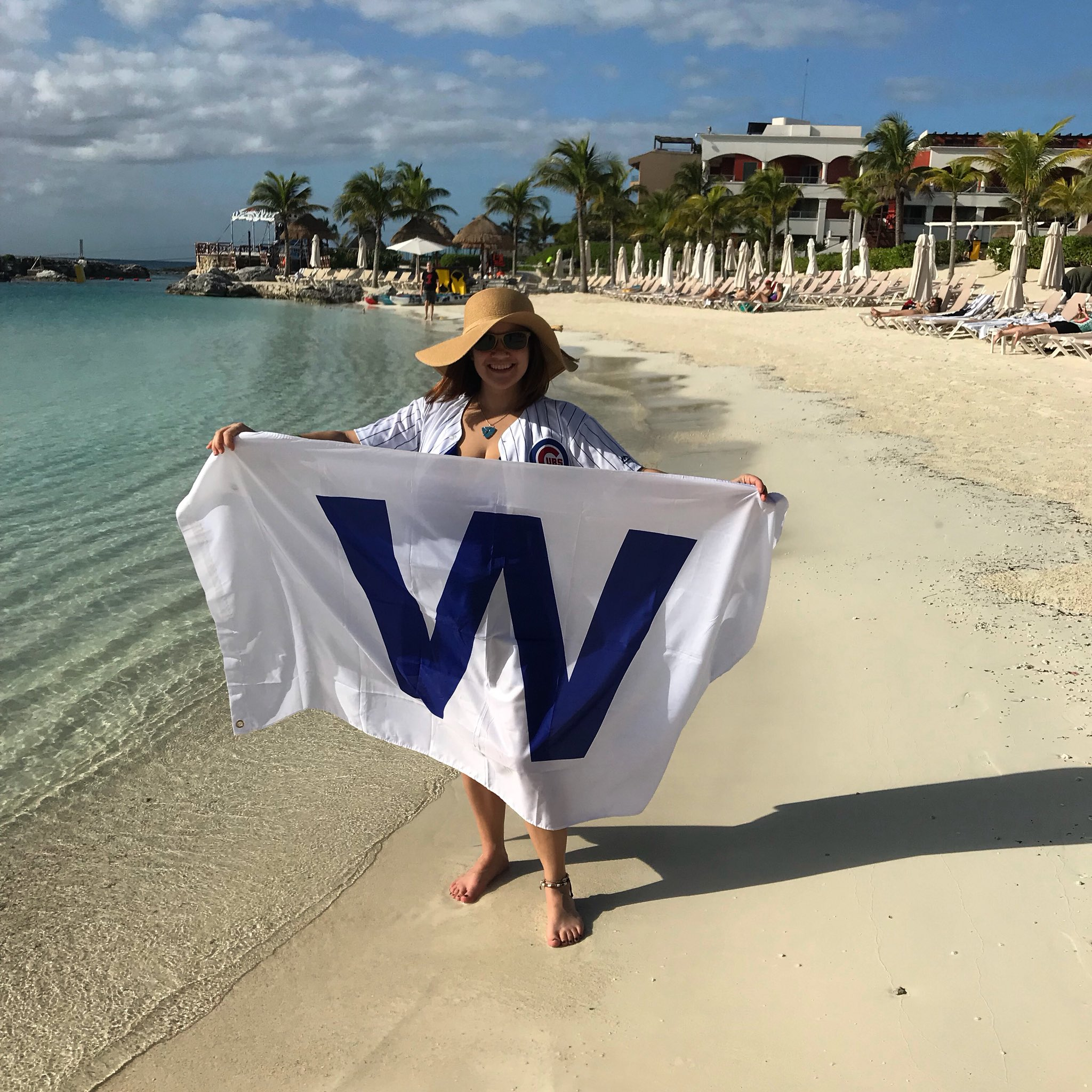 Flying the W in Mexico because it's baseball's turn now! https://t.co/YHFdasNAQm