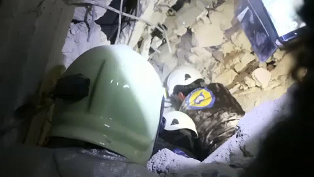 NO COMMENT | Baby rescued from rubble in Syria's Idlib