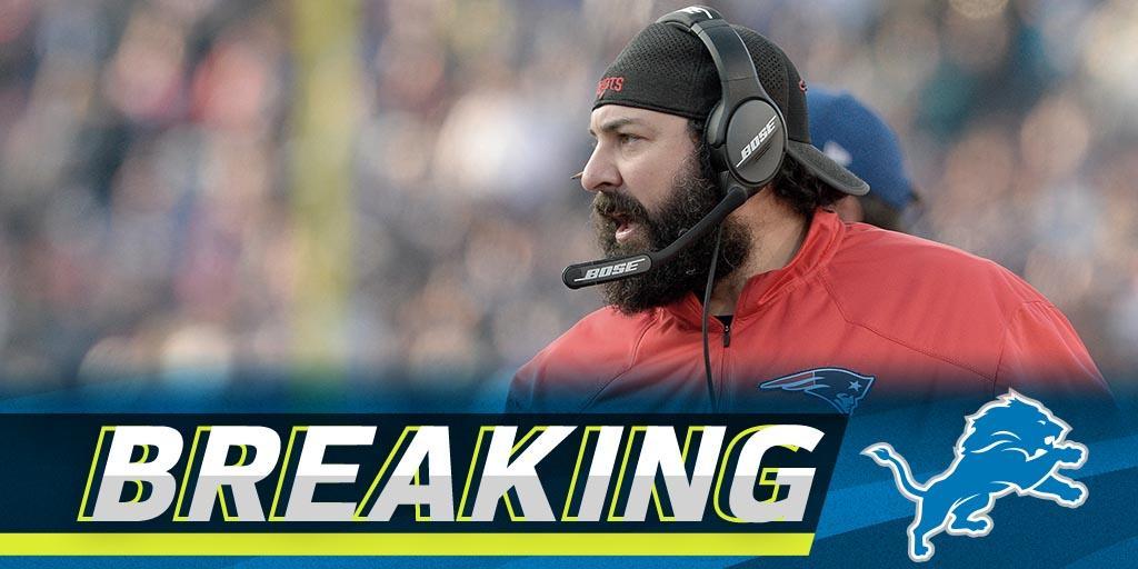 .@Lions name Matt Patricia as head coach: https://t.co/eCkueLZ02P https://t.co/AwhGEBjvf8