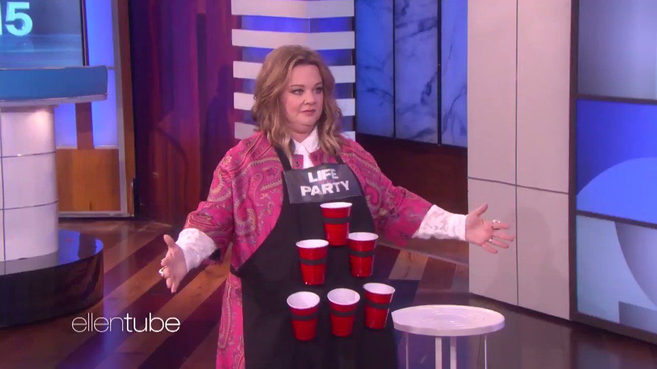 This might be the most moving game of beer pong ever played. I love you, @MelissaMcCarthy. https://t.co/HKAXowo13H