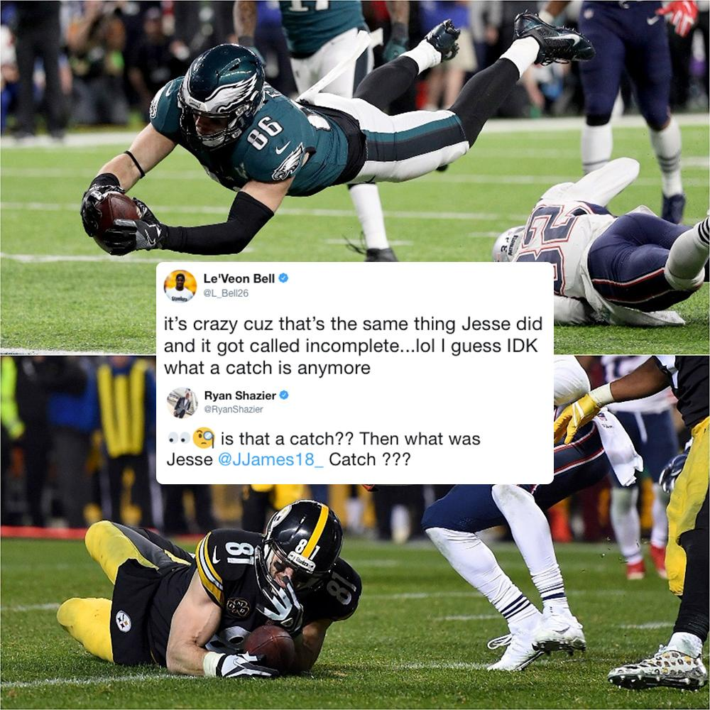 Two Steelers had some thoughts about Zach Ertz's touchdown in the Super Bowl. https://t.co/CHCTYkYPDR