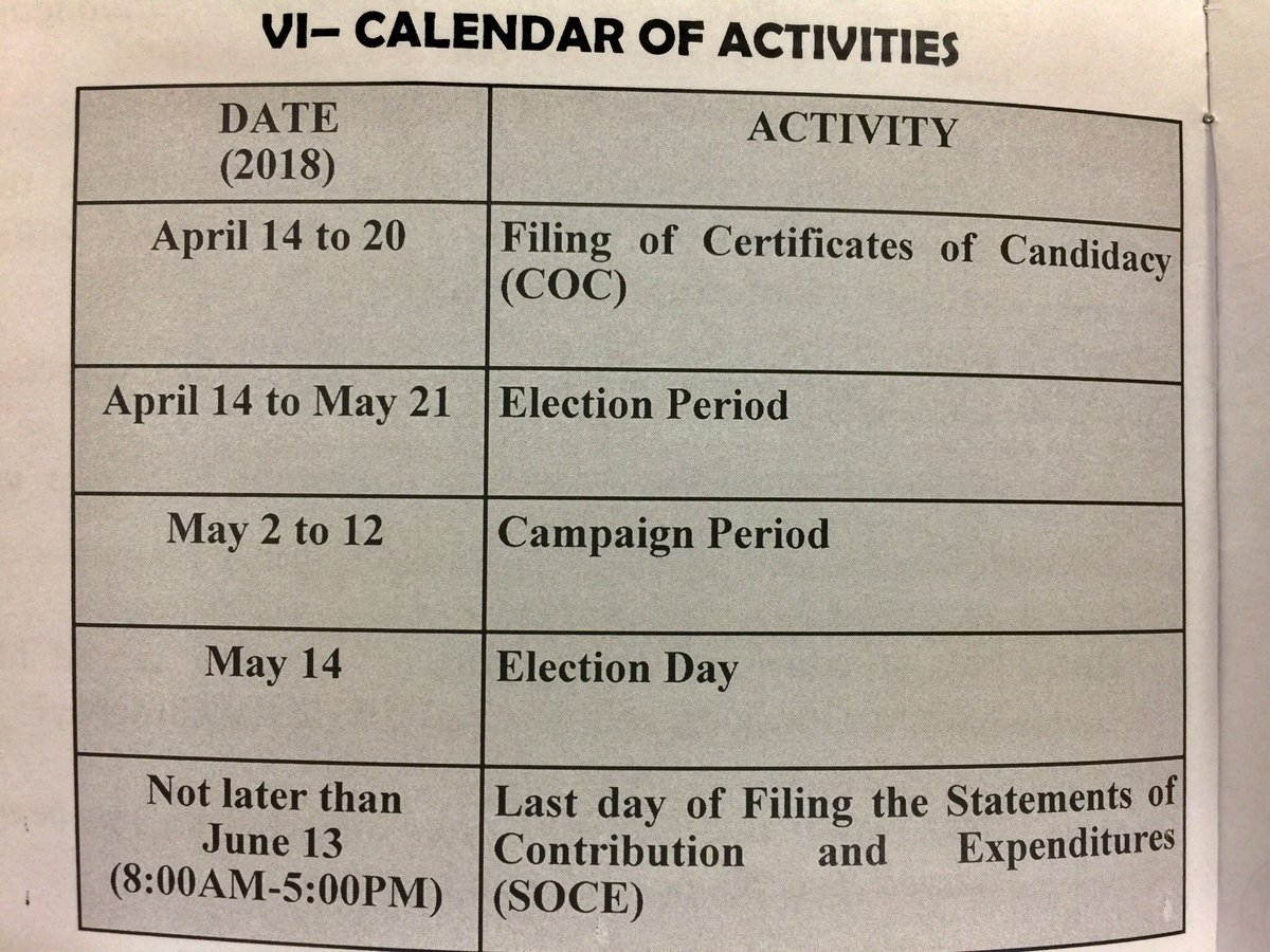 barangay election 2018