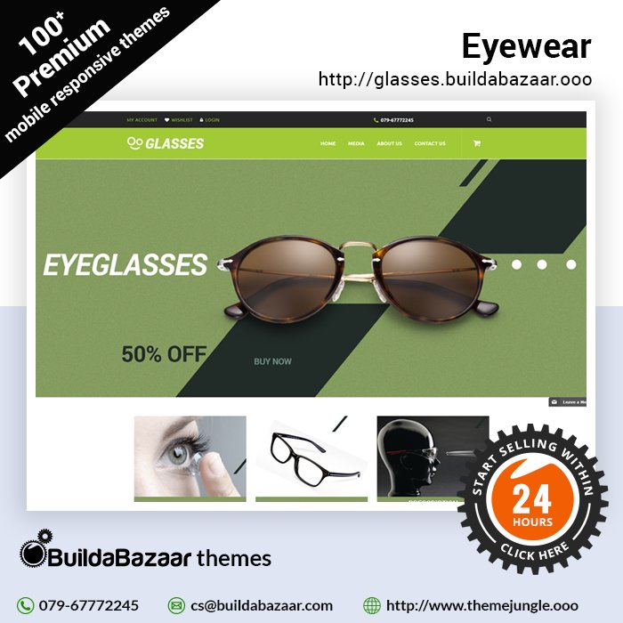 test Twitter Media - Planning to sell eyewear online? Showcase your latest and new frames for specs, glasses in your #onlinestore with #BuildaBazaar. Choose from 100+ premium #eyewearthemes and get online today.  #infibeam #themejungle #buildabazaarthemes #ecomercethemes https://t.co/qvQjCdozps https://t.co/WoF1r9L15Q