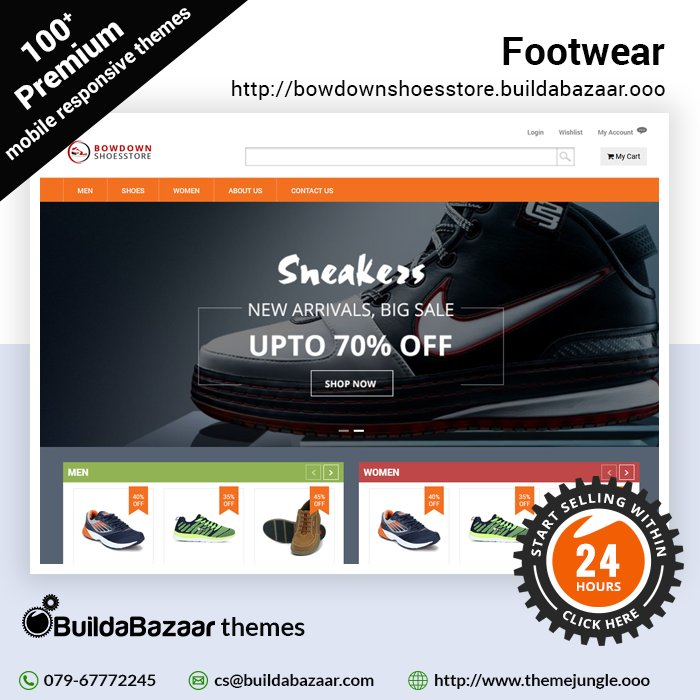 test Twitter Media - Showcase your immense designs of Footwear in a well-structured website with #BuildaBazaar #storebuilder. Choose from 100+ premium free themes, get your store ready in just 24 hrs! Hurry don't miss out the chance. #infibeam #themejungle https://t.co/5qrKA4wX2n https://t.co/9Ky2L0Ly4V