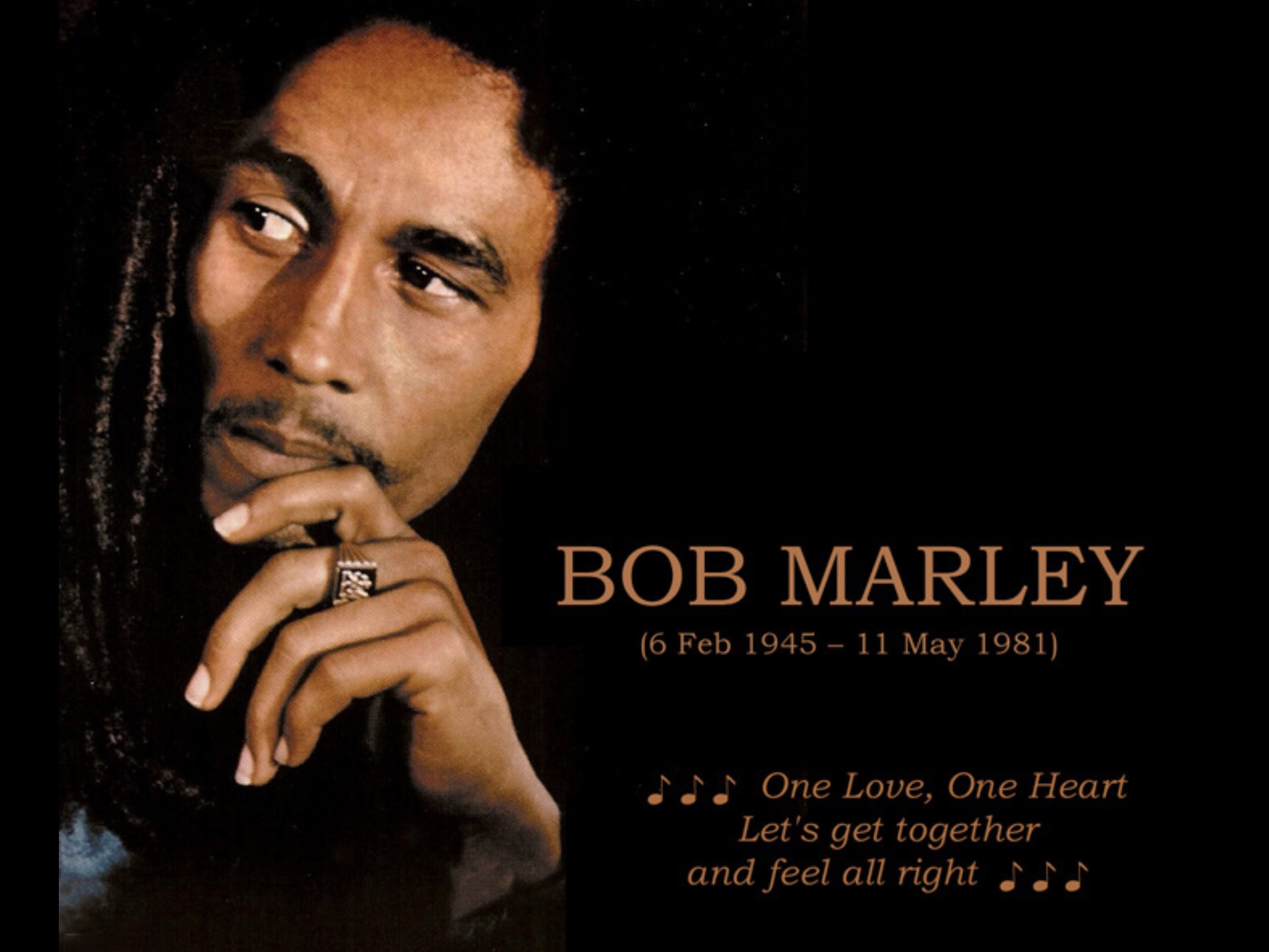 Happy Birthday Bob Marley!  You live on...