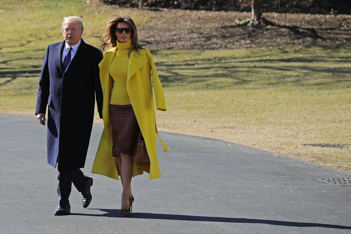 Watch: Trump tries and fails to hold Melania's hand, gets her coat sleeve instead
