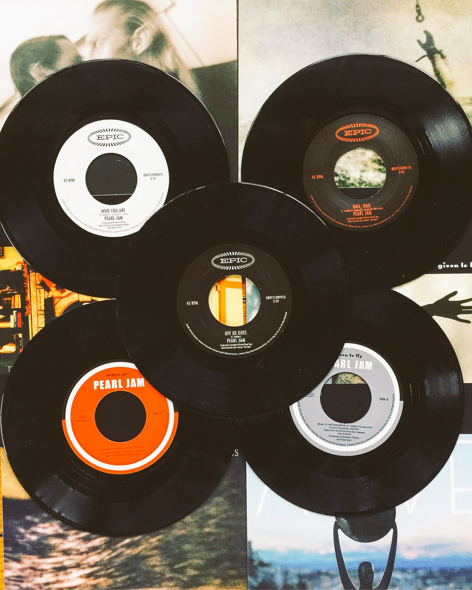 RT @Heidekens: 'I love a new album but nothing beats a good stack of 45's.' #PearlJam https://t.co/yq4nqAoWVe