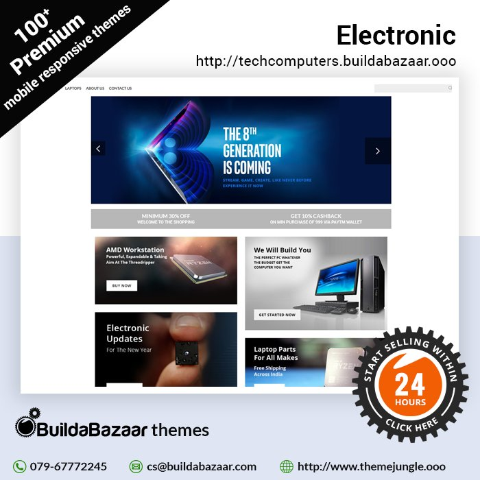 test Twitter Media - Electronics are the things that consumer buy online blindly, don't miss out this chance if you own a similar shop. Build your online electronics store today on #BuildaBazaar's SaaS platform and get 24/7 tech support.  #infibeam #themejungle https://t.co/5WyIqGyKVv https://t.co/MIv9SXL4dQ