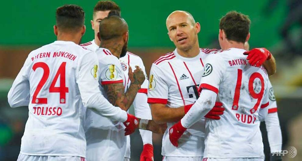 Robben nets twice as Bayern power into German Cup semi-finals
