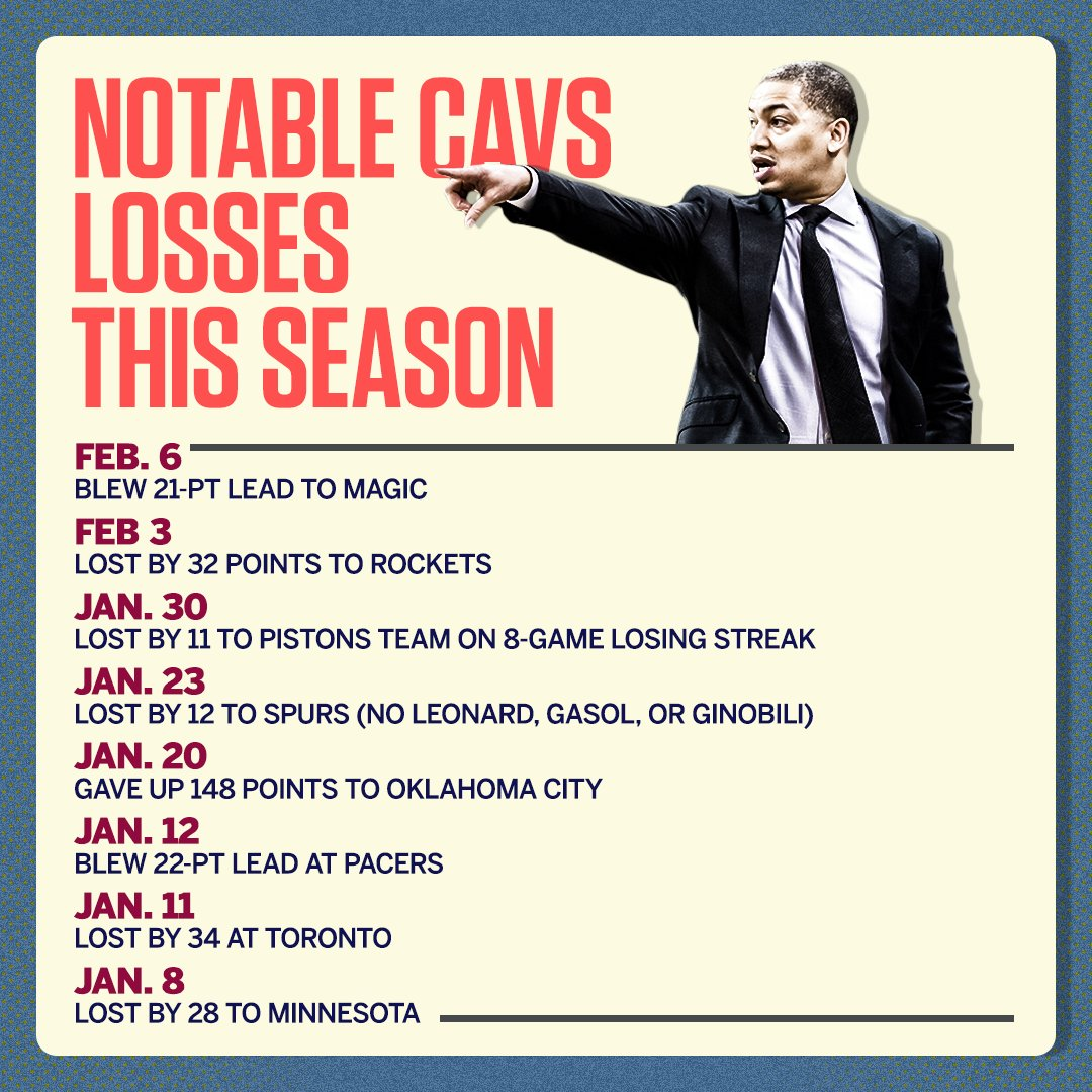 It's been a rough start to 2018 for the Cavs. https://t.co/8bLKWAq0WQ