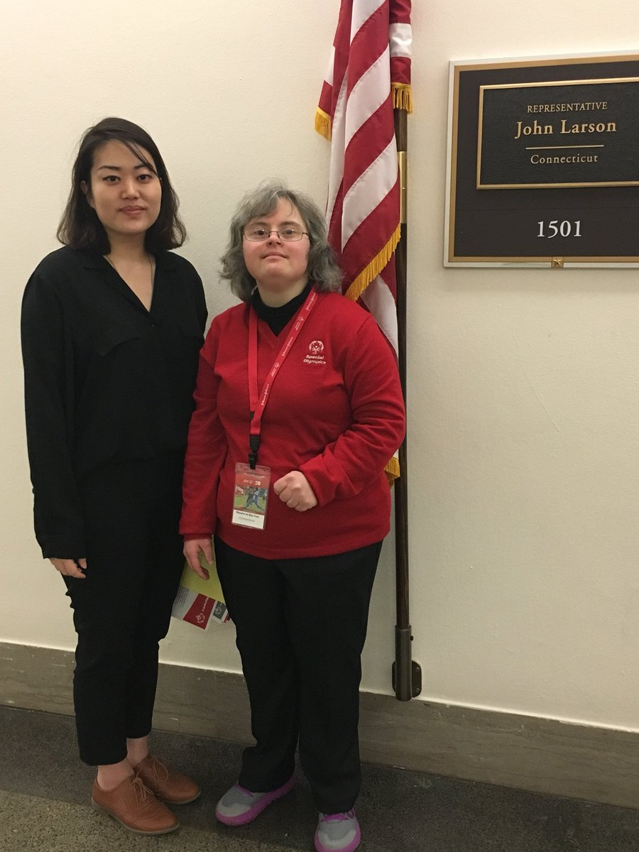 Natasha appreciated the opportunity alto talk with Sylvia Lee in @RepJohnLarson's office about @SpecialOlympics' life-changing work in health, education and Sports! #SOHillDay https://t.co/3bCmoXKHxB