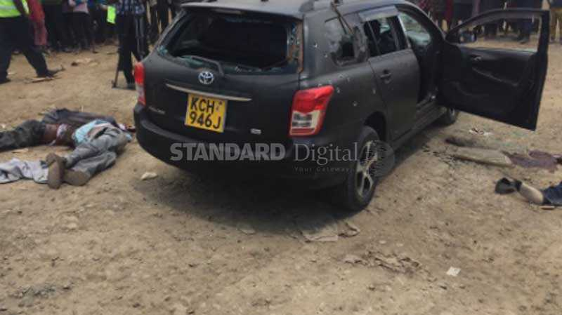 Seven suspected thugs shot dead at Kibunja area in Molo (Photos)