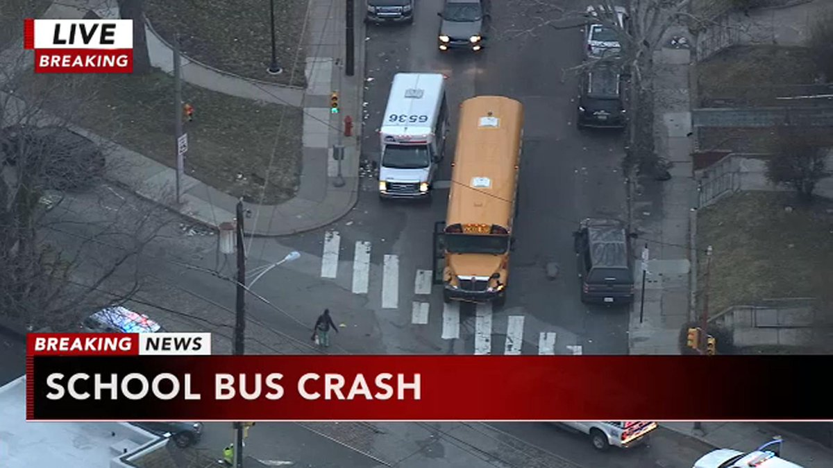School bus crash in Logan section of Philadelphia; 2 students hospitalized
