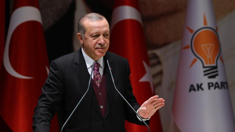 Turkish President Erdogan slams the US' support for Kurdish YPG fighters in northern Syria
